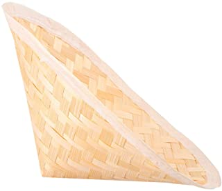 WINOMO Traditionella Kinesiska Bamboo Halm Cone Hat Asiatiska Orientaliska Hatt Trädgård Fiske Hatt Hatt Ris Bonde Hatt Fö...