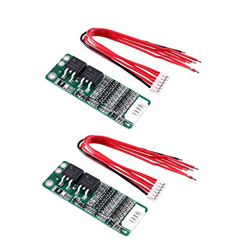 Organizer 5S 15A Li-ion Lithium Battery BMS 18650 Charger Protection Board 18V 21V Cell Protection Circuit with Wire