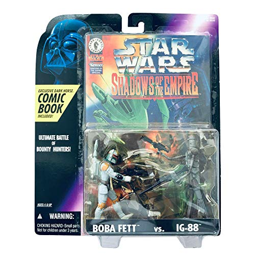 Star Wars Shadow of the Empire Boba Fett vs. IG-88 comic and figures image