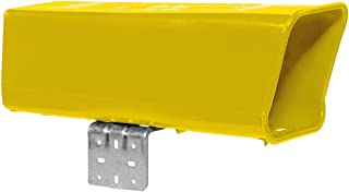Plastic Newspaper Delivery Tube Box Receptacle & Mounting Bracket, Yellow