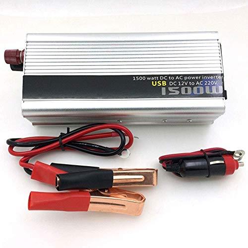 J-Love Inversor de Corriente 800W DC 12V/24V a AC 110V/220V convertidor de Salidas de CA y Puertos de Carga USB para Uso doméstico de vehículos de camión RV