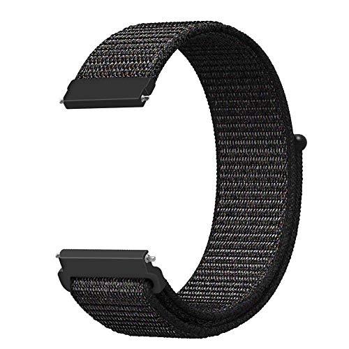 Pulseira Nylon 20mm Para Relógio Xiaomi Huami Amazfit Bip Preto