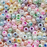 Jablonex Czech Seed Beads Mix, 1-Ounce, Size 6/0, Pastel Pearl Assorted