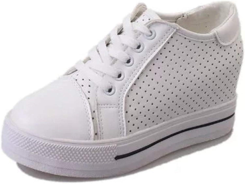 Btrada Women Wedge Platform White Casual shoes Female Sneakers Platform High Top Sneaker