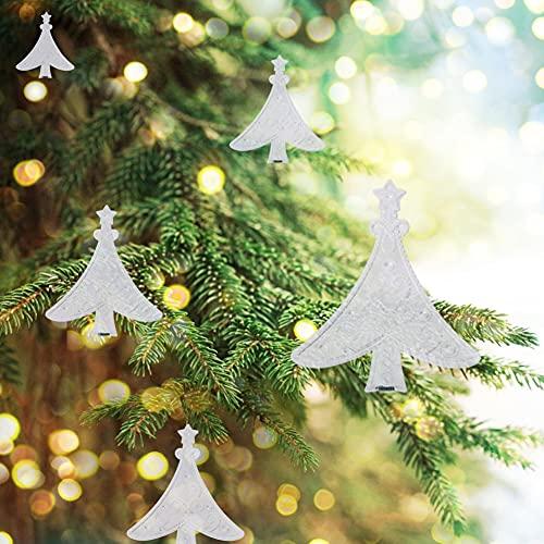 Changor Adornos de acrílico de Navidad, Adornos de Bola de Navidad 7.8cm Hecho acrílico