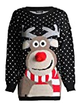 Rudolph 3D Nase Weihnachts Pullover