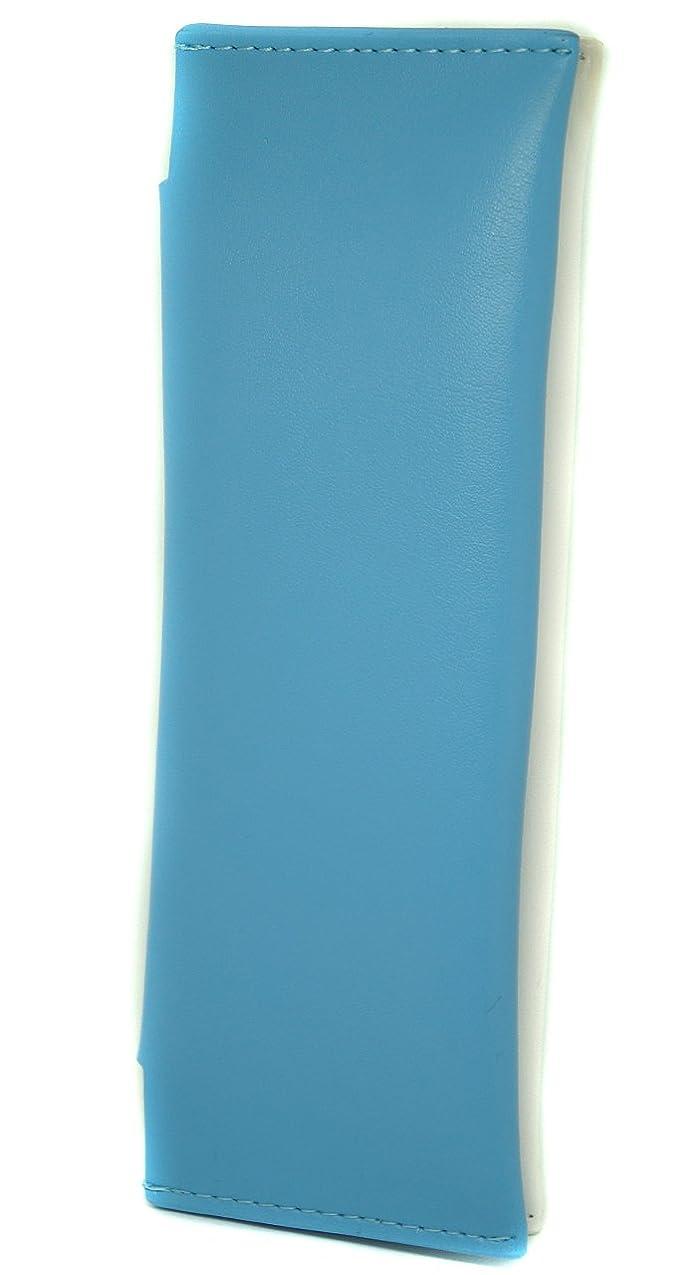 課す風味落ち着いた極上レザー 牛革 ケース 全部入る PloomTECH ホワイトブルー ME0197_c1