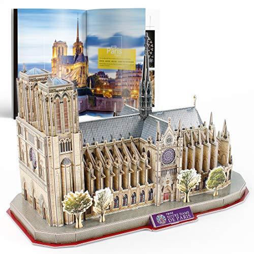 Cubicfun National Geographic 3D Puzzles for Adults Kids Notre Dame de Paris France