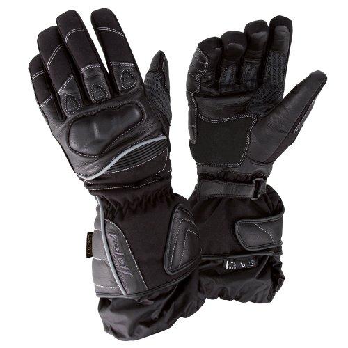 Roleff Racewear Lederhandschuhe mit Klimamembrane, Schwarz, XL