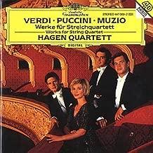 Hagen Quartett: Verdi Puccini & Verdi / Muzio Works For String Quartret by Hagen String Quartet