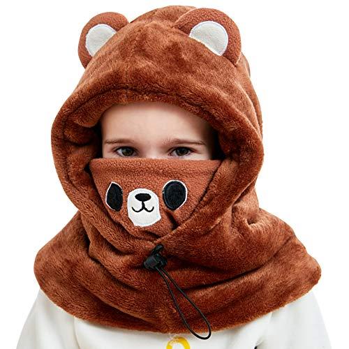 Cappello invernale per bambini ragazzi ragazze passamontagna in pile cappuccio da sci regolabile...