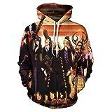 YJXDBABY-One piece-3D Printed Jacket Men's Hip-Hop Hoodie, longleeved Casual Sports Top, Kangaroo Pocket Drawstring Hoodie-XXXL