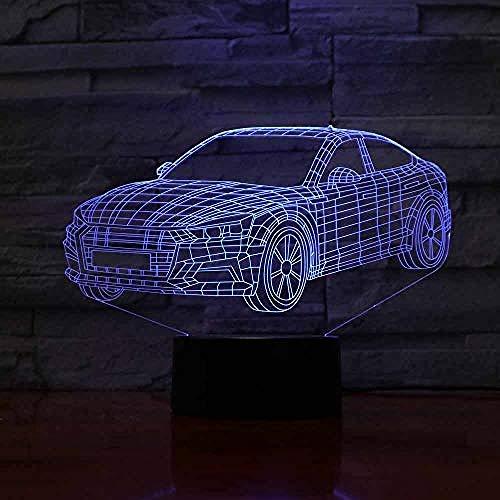 Luces nocturnas Ilusión 3D de luz nocturna lámpara para sala de estar with para sala de estar, cama, bar, regalo juguetes para niños y niñas Con interfaz USB, cambio de color colorido
