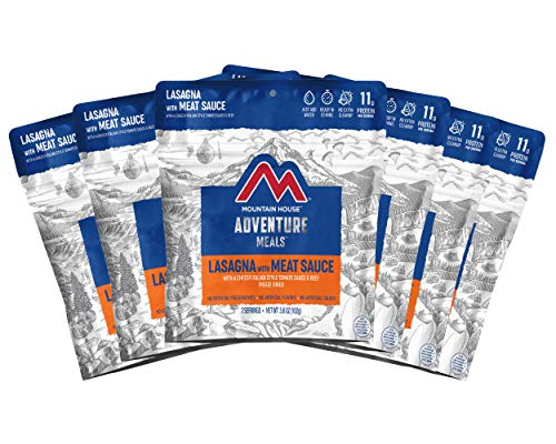 Mountain House Lasagna with Meat Sauce | Freeze Dried Backpacking & Camping Food |6-Pack