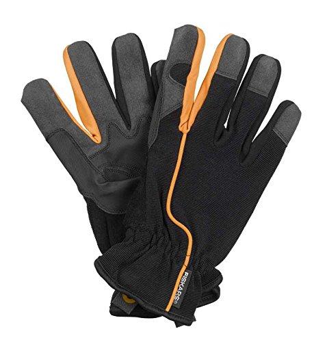 Fiskars Gants de travail et de jardin, Taille 8, Noir/Orange, 1003478