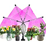Led Grow Lights Plants Lights Lamp Indoor Plants Bulb,80 LEDs Four Head, USB Cable Adapter, 8 Dimmable Levels Modes & Timer, Red & Blue Spectrum Light for Veg and Flower, 3 Timer Setting 3H 9H 12H