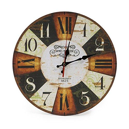 LOHAS Home 30 cm Reloj de Pared de Cuarzo Estilo Toscano Vintage Francesa Paris...