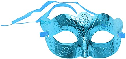 Opla3Ofx Halloween Cosplay Costume Face Mask,Halloween Masquerade Prom Party Costume Kids Adults Accessories Decorations Blue