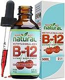 Organic Vitamin B12 Liquid - Extra Strength 60 x 5000mcg Drops (Methylcobalamin), w/ Natural Cherry Flavor | Designed to Maximize Absorption & Energy | Vegan, Gluten & GMO-Free