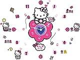 Hello Kitty Tick Tock Reloj de Pared y Pegatinas