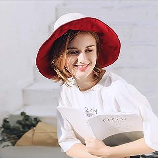 WN - Sombrero - Sombrero de Verano para Mujer Sombrero para el Sol Plegable Sombrero para el Sol Viaje al Aire Libre Sombrero de Pescador Desgaste Lateral Doble (5 Colores) Sombrero para Mujer