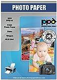 PPD A3 Papel Fotográfico Brillante (180 g/m2, 50 hojas, Inkjet, Secado Instantáneo, Resistente Al Agua) PPD-41-50