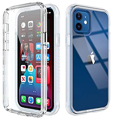 Cyberowl Compatible with iPhone 12 Case/iPhone 12 Pro Case 6.1 inch with Built-in Screen Protector Full-Body Rugged Slim Fit Shockproof Hard Plastic & Soft TPU Resistant Cover (Clear)
