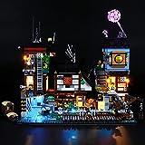 HYQX Kit de luces LED para Lego 70657 Ninjago City Docks, juego de iluminación de luces compatible con Lego 70657 (juego de luces LED solamente, sin kit de lego)
