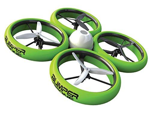 Flybotic by Silverlit - Bumper Drone Antichoc 40 cm - Modèle Aléatoire Bleu ou Vert - Jouet Volant - Utilisation Intérieure/extérieure