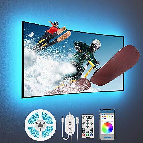Govee Tira LED 3m USB, Luces LED RGB Bluetooth Control de App 16 Millones de Color, Modo de Escena soporta TV o Pantalla de Ordenador para Habitación, Juego Electrónico y Cine en Casa