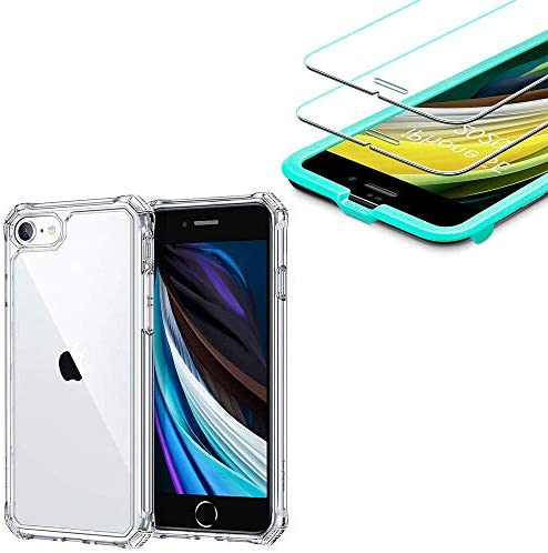 ESR Air Armor Designed for iPhone SE 2020 Case iPhone 8 Case 2 Pack iPhone 8 7 6s 6 Screen Protector product image