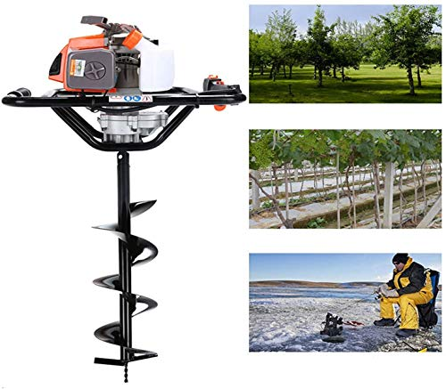Find Cheap CHIKURA 68cc 2.5kw Big Power Post Hole Digger Ground Drilling Machine Earth Auger (Engine...
