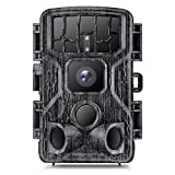 Cococam 4K 30MP Cámara de Rastreo para Caza WiFi Bluetooth Cámara Fototrampeo de Vida Silvestre, 42 Infrarrojos Leds, 25m Visión Nocturna, Disparo Rápido de 0,2s, Impermeable IP66