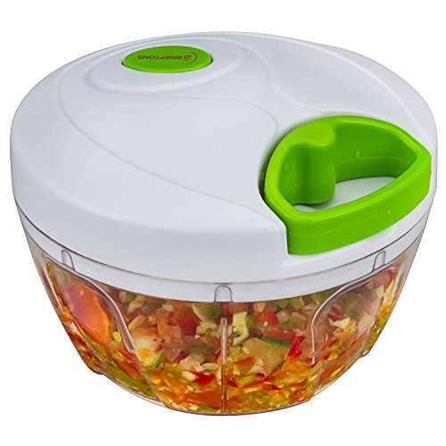 Brieftons Manual Food Chopper, Compact & Powerful Hand Held Vegetable...