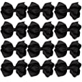4 Inch Boutique Girls Hair Bows Hair Clips for Girls Toddlers 12 Pcs Solid Color