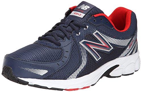 New Balance Men's 450 V3 Running Shoe, Navy/Silver/White, 8 4E US