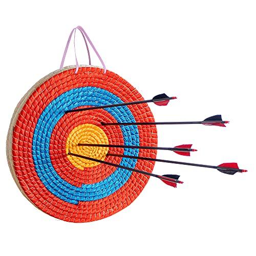 Bogenkönig Zielscheibe Bogenschießen - wetterfeste Strohzielscheibe für Erwachsene & Kinder I Stroh Ziel für Pfeil und Bogen & Armbrust, Bogenschießen Zubehör