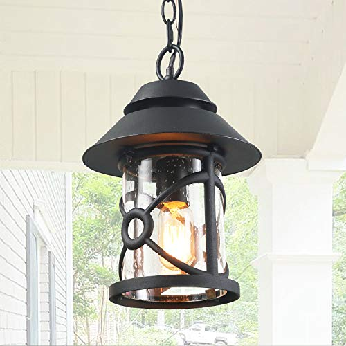 LOG BARN Farmhouse Outdoor Lantern Rustic Outside Pendant in...