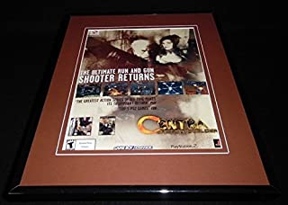 Contra Shattered Soldier 2002 PS2 Game Boy Framed 11x14 ORIGINAL Advertisement