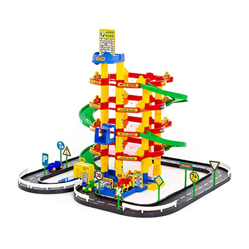 Polesie Wader Quality Toys 38104 Parkgarage mit 5 Spielebenen