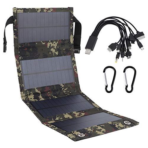 Cargador de celda de panel solar portátil plegable de 20W Salida USB de silicio monocristalino IP65...