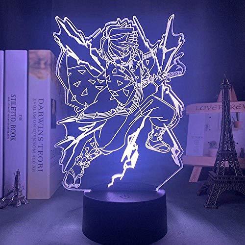 Led Nachtlicht Anime Demon Slayer Touch Illusion Lampe Fernbedienung Für Schlafzimmer Dekor Licht Kind Kind Geburtstagsgeschenk - 16 Farbe