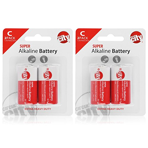 Essential Circuit City C-Cell High Performance Alkaline Batteries (4 Pack)