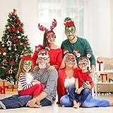 Toyvian 8 Pcs Novedad Gafas de Navidad y Diadema de Navidad Sombrero Headband de Navidad Fuentes del Partido niños y Adultos