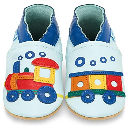 Scarpe Bambino - Scarpe Neonato in Morbida Pelle - Scarpine Neonato Primi Passi - Locomotiva - 18-24 Mesi