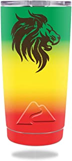MightySkins Skin Compatible with Ozark Trail 20 oz Tumbler (2016) - Rasta Lion   Protective, Durable, and Unique Vinyl Decal wrap Cover   Easy to Apply, Remove, and Change Styles   Made in The USA