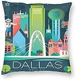 BONRI Texas Modern Poster Dallas Travel Art Print