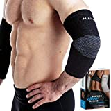 Mava Sports Bamboo Elbow Compression Sleeves (Black,...