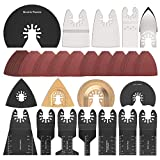 66pcs Oscillating Tool Blades, Oscillating Multitool Saw Blades Accessories Kit for Fein Multimaster, Bosch,...