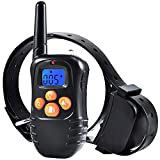 HXWEB Dog Training Collar with Remote, 1000FT Range Rechargeable Waterproof Home Dog Training